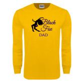 Gold Long Sleeve T Shirt-Black Fox Dad