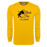 Gold Long Sleeve T Shirt-Black Fox Alumni