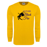 Gold Long Sleeve T Shirt-Future Black Fox