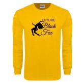 Gold Long Sleeve T Shirt-Future Black Fox