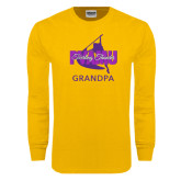 Gold Long Sleeve T Shirt-Twirling Thunder Grandpa