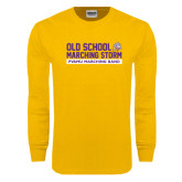 Gold Long Sleeve T Shirt-Old School w/ Cloud