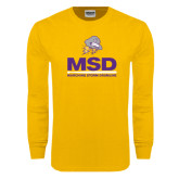 Gold Long Sleeve T Shirt-MSD w/ PVAM Logo