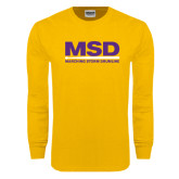 Gold Long Sleeve T Shirt-MSD