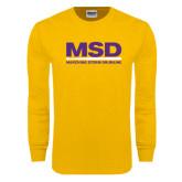 Gold Long Sleeve T Shirt-MSD