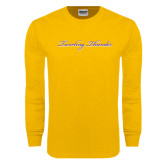Gold Long Sleeve T Shirt-PVAMU Twirling Thunder Logo