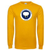 Gold Long Sleeve T Shirt-Marching Storm Cloud Circle - Fan