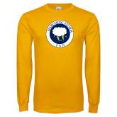 Gold Long Sleeve T Shirt-Marching Storm Cloud Circle - Fan