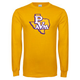 Gold Long Sleeve T Shirt-PVAM Texas
