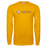 Gold Long Sleeve T Shirt-PVAM Texas Flat