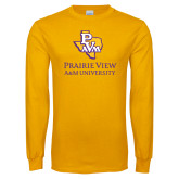 Gold Long Sleeve T Shirt-PVAM Texas Stacked