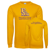 Gold Long Sleeve T Shirt-PVAM Stacked
