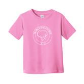 Toddler Pink T Shirt-Marching Storm Cloud Circle - Kid