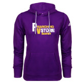 Adidas Climawarm Purple Team Issue Hoodie-PV Marching Storm Band