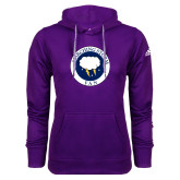 Adidas Climawarm Purple Team Issue Hoodie-Marching Storm Cloud Circle - Fan