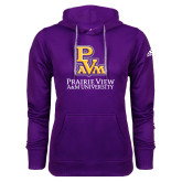 Adidas Climawarm Purple Team Issue Hoodie-PVAM Stacked