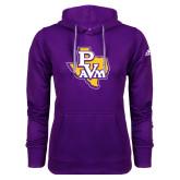 Adidas Climawarm Purple Team Issue Hoodie-PVAM Texas