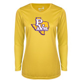 Ladies Syntrel Performance Gold Longsleeve Shirt-PVAM Texas