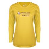 Ladies Syntrel Performance Gold Longsleeve Shirt-Alumni