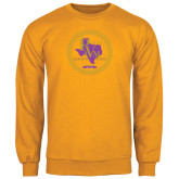 Gold Fleece Crew-PVAM Marching Band Seal