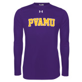 Under Armour Purple Long Sleeve Tech Tee-Arched PVAMU