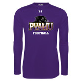 Under Armour Purple Long Sleeve Tech Tee-Football