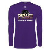 Under Armour Purple Long Sleeve Tech Tee-Track & Field
