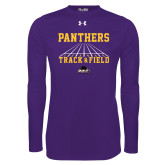 Under Armour Purple Long Sleeve Tech Tee-Track & Field Design