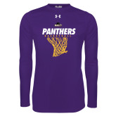 Under Armour Purple Long Sleeve Tech Tee-Basketball Design