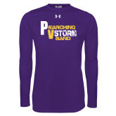 Under Armour Purple Long Sleeve Tech Tee-PV Marching Storm Band