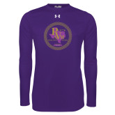 Under Armour Purple Long Sleeve Tech Tee-PVAM Marching Band Seal