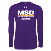 Under Armour Purple Long Sleeve Tech Tee-MSD Alumni