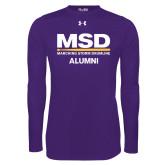 Under Armour Purple Long Sleeve Tech Tee-MSD Alumni