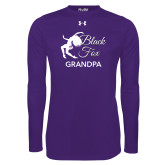 Under Armour Purple Long Sleeve Tech Tee-Black Fox Grandpa