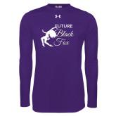 Under Armour Purple Long Sleeve Tech Tee-Future Black Fox