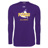 Under Armour Purple Long Sleeve Tech Tee-Twirling Thunder Alumni