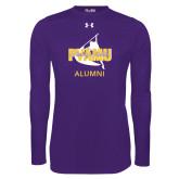 Under Armour Purple Long Sleeve Tech Tee-Twirling Thunder Alumni