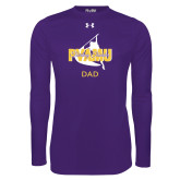 Under Armour Purple Long Sleeve Tech Tee-Twirling Thunder Dad