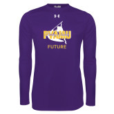 Under Armour Purple Long Sleeve Tech Tee-Future Twirling Thunder