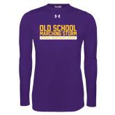 Under Armour Purple Long Sleeve Tech Tee-Old School w/ Cloud