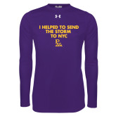 Under Armour Purple Long Sleeve Tech Tee-The Storm To NYC w/ Cloud