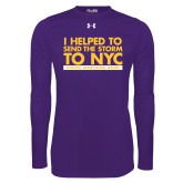 Under Armour Purple Long Sleeve Tech Tee-The Storm To NYC Stacked