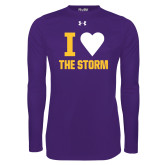 Under Armour Purple Long Sleeve Tech Tee-I Heart The Storm