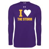 Under Armour Purple Long Sleeve Tech Tee-I Heart The Storm