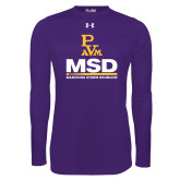 Under Armour Purple Long Sleeve Tech Tee-MSD w/ PVAM Logo