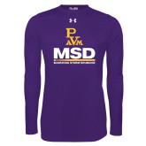 Under Armour Purple Long Sleeve Tech Tee-MSD w/ PVAM Logo