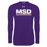 Under Armour Purple Long Sleeve Tech Tee-MSD