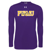Under Armour Purple Long Sleeve Tech Tee-PVAMU Black Fox Overlap