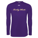 Under Armour Purple Long Sleeve Tech Tee-PVAMU Twirling Thunder Logo