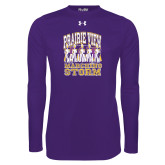 Under Armour Purple Long Sleeve Tech Tee-Praire View marching Storm w/ Majors